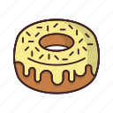 bakery, dessert, donut, doughnut, fondant, food, sweet icon
