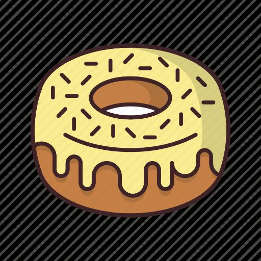 bakery, dessert, donut, doughnut, fondant, food, sweet icon
