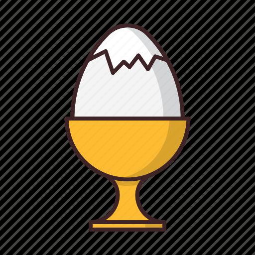 boiled, breakfast, easter, egg icon