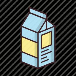 beverage, drink, milk, package, packaged, tetrapack icon