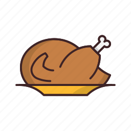 chicken, food, meat, roasted, thanksgiving, turkey icon