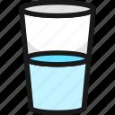 water, glass, half, full