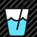 water, straw