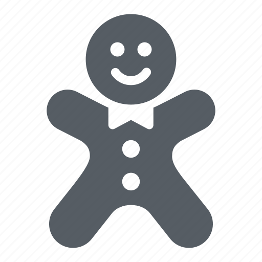 christmas, cookie, food, gingerbread, man, sweet icon