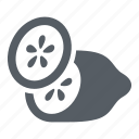 cucumber, food, healthy, slices, vegetable icon