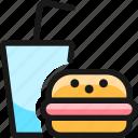 fast, food, burger, drink