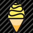 cream, cone, ice