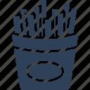 potato fries, french fries, french fries box, frites, fries box icon