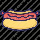 bratwurst, packed sausage, salami, sausage roll, sausages icon