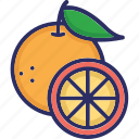 food, fruit, half orange, healthy diet, orange icon