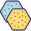 bakery food, biscuits, cookies, crackers, snacks icon