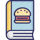 cooking book, fast food recipes, food diary, recipes book icon