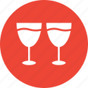 alcohol, beverage, drink, glasses, wine glasses icon