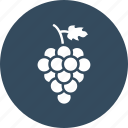 bunch, food, fruit, grapes, healthy food icon