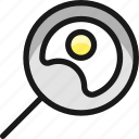animal, products, fried, egg, pan