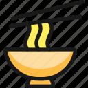 asian, food, noodles, bowl