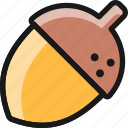 fruit, acorn