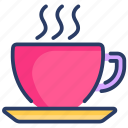 coffee, cup, drink, drinks, hot, set, tea icon