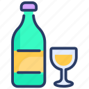 alcohol, alcohole, bottle, drink, glass, wine icon