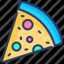 food, italian food, italy, pizza, pizza slice, slice, snack icon
