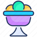 bowl, cream, dessert, food, ice, ice cream, ice cream bowl icon