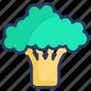 broccoli, food, salad, vegetable, vegetables icon