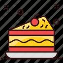 bakery food, cake, cake piece, cake slice, chocolate cake, slice, sweet food icon