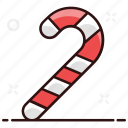 candy cane, confetti, candy, christmastide, cane, rainbow candy icon