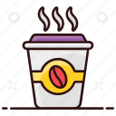 disposable coffee, takeaway drink, takeaway coffee, refreshing drink, coffee, smoothie drink icon