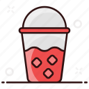 chilled coffee, disposable drink, drink, fizzy, fizzy drink, refreshing drink, takeaway drink icon