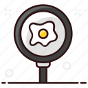 breakfast, egg, food, fried, fried egg, healthy breakfast, proteine egg icon