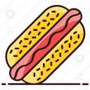 burger, dog, fast food, hot, hot dog sandwich, junk food, sandwich icon