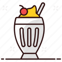 beverage, cold shake, cream, ice, ice cream shake, shake, summer drink icon