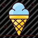 cornet, cream, dessert, ice, ice cone, ice cream, waffle icon