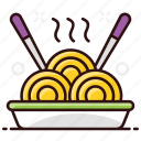 chinese food, food, meal, noodles, spaghetti icon
