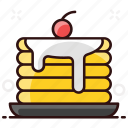 flapjack, griddle cake, hot cake, pancake, pancakes icon