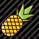healthy food, juicy fruit, nutritious food, organic fruit, pineapple icon