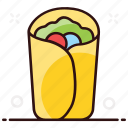 tacos, snack, tortilla sandwich, sandwich, food, tortilla, mexican dish icon