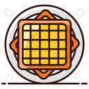 cracker, dessert, snack, waffle, waffle fries icon