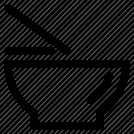 Bowl, food, noodles, stick icon - Download on Iconfinder