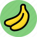 banana, fresh, fruit icon
