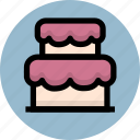 birthday, cake, holiday icon