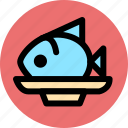 cooking, fish, food, kitchen, meat icon