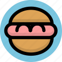 food, gastronomy, hamburger icon