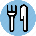 cutlery, fork, knife, tableware icon