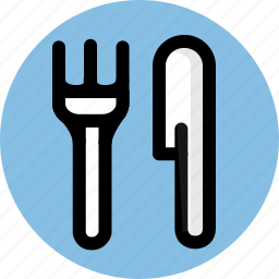 cutlery, fork, knife, tableware icon