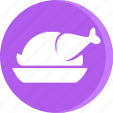 chicken, cooking, dish, fast, food, gastronomy, restaurant icon