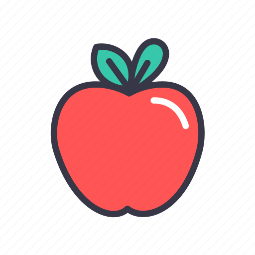 apple, food, fruit, healthy, juicy, kitchen, sweet icon