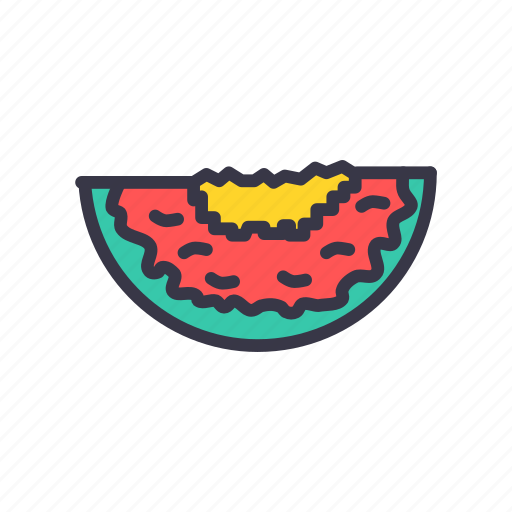 food, fresh, fruit, healthy, kitchen, red, watermelon icon