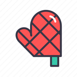 food, gloves, hand, kitchen, mitts, oven, protection icon